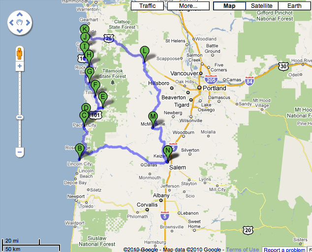 oregon roadtrip map