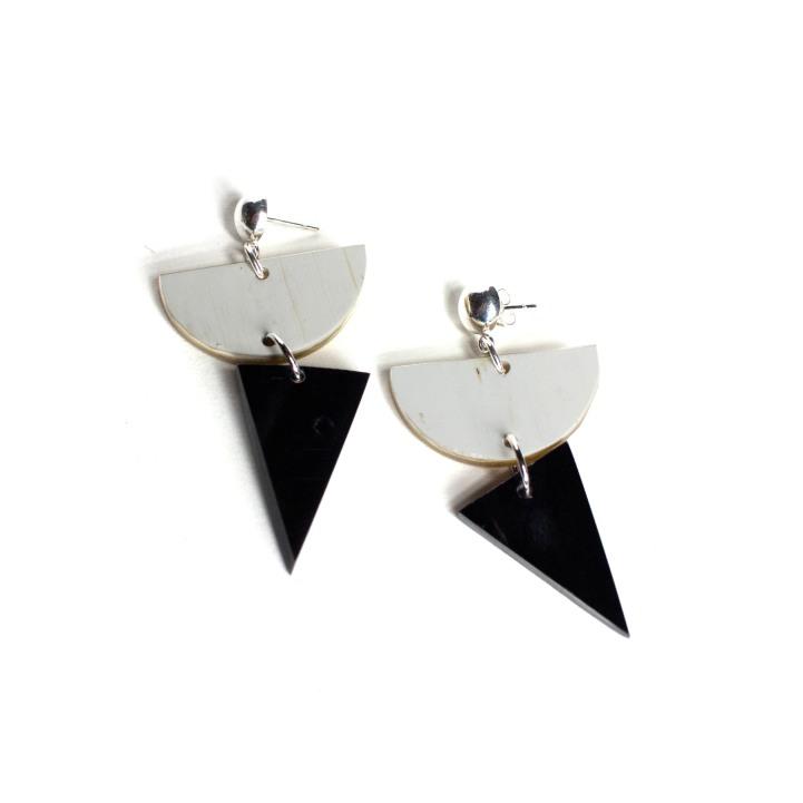 Ankole Geometric Post Earrings